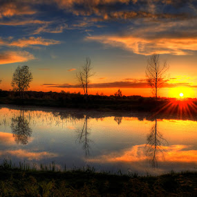 Sunset by Vanja Vidaković - Landscapes Sunsets & Sunrises ( vukovar, croatia, stara vuka,  )