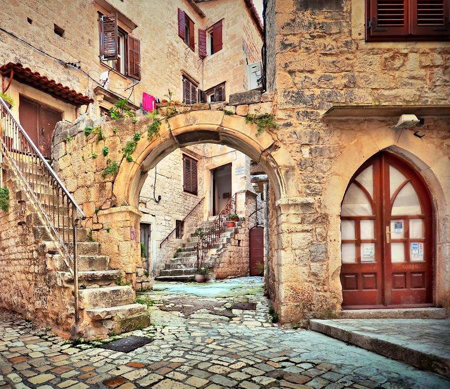 Trogir by Dado Barić - City,  Street & Park  Neighborhoods ( dalmacija, street, croatia, trogir, dalmatia, hrvatska )