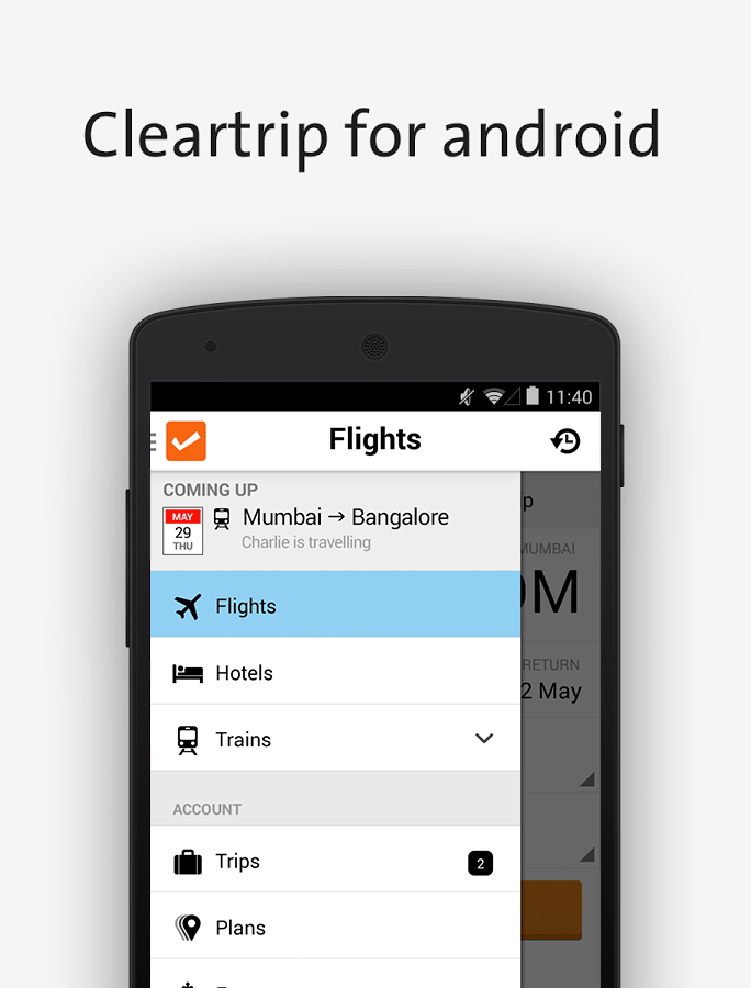 Cleartrip-Hotels Flights IRCTC- screenshot