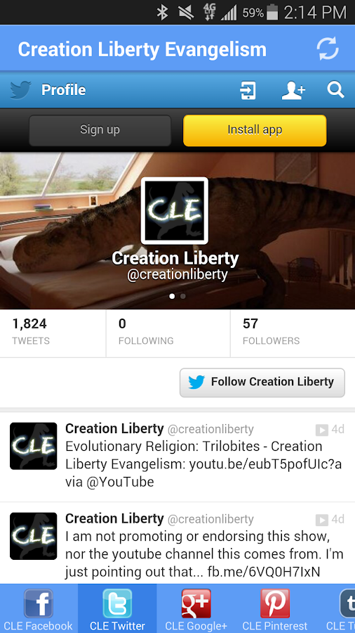 Creation Liberty Evangelism- screenshot