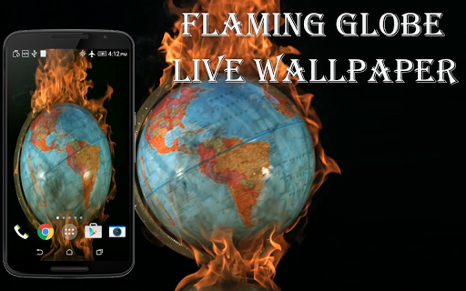 Flaming Globe Live Wallpaper