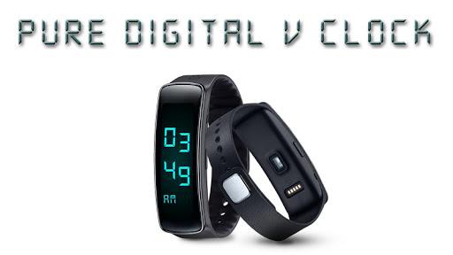 Modern Digital V Clock GearFit