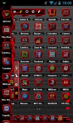 TSF Shell Theme Red Th HD - screenshot