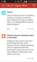 Screenshot of City of Calgary News