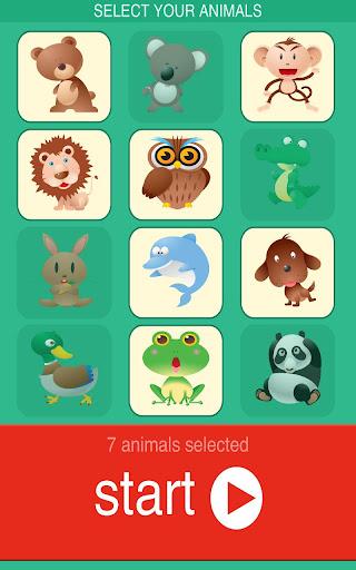 Baby Animal Puzzle Lite Screenshot