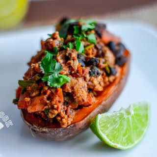 Chili-Stuffed Sweet Potato.