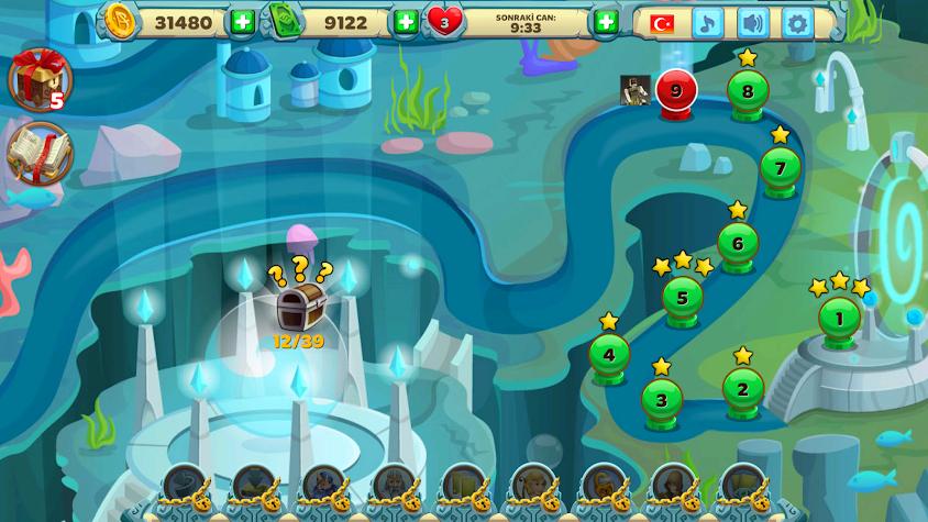 Solitaire Atlantis Screenshot