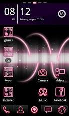 Pink Go Launcher EX Theme