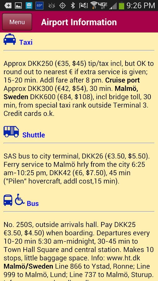 Airport Transit Guide - screenshot