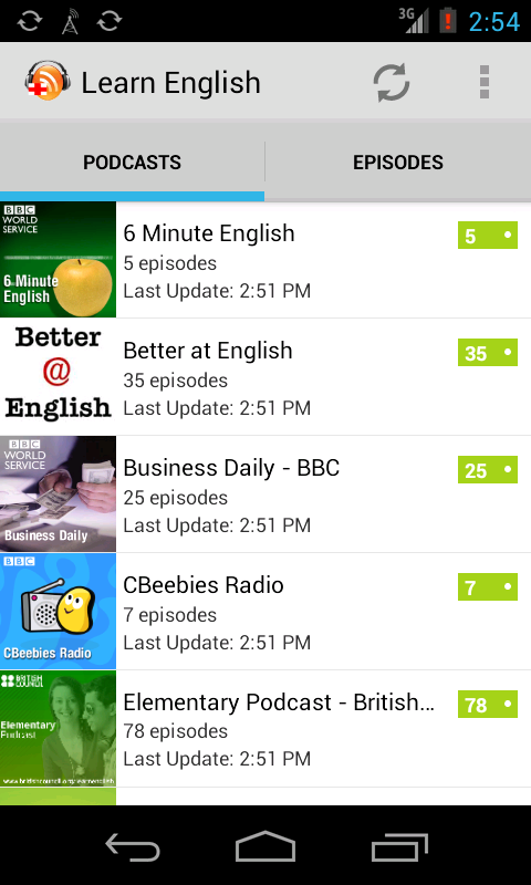 Learn English with Podcasts - screenshot