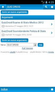 QuizDroid - CONCORSI - screenshot thumbnail
