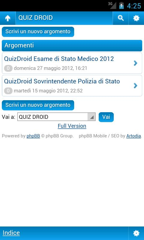 QuizDroid - CONCORSI- screenshot