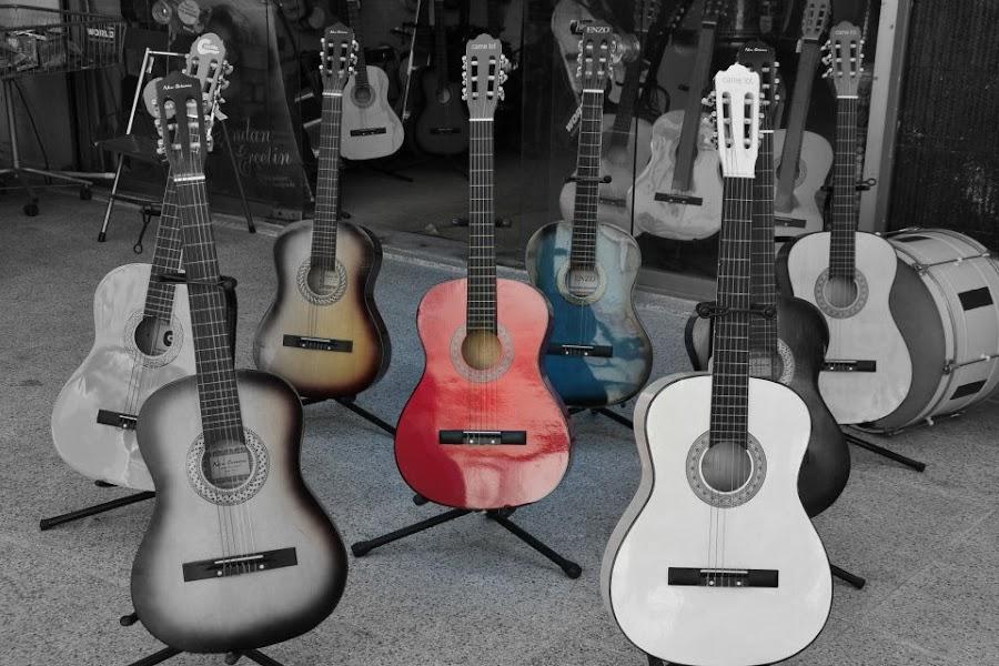 Guitars by Natasa Dokovska - Artistic Objects Musical Instruments ( guitars )