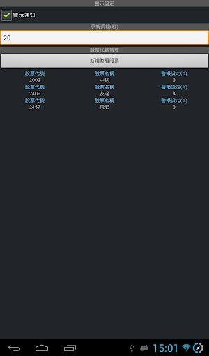 台灣股市桌面小工具