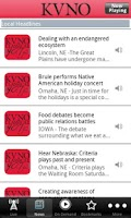 Screenshot of KVNO Public Radio App
