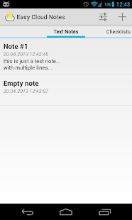 Easy Cloud Notes - screenshot thumbnail