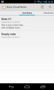 Easy Cloud Notes - screenshot thumbnail
