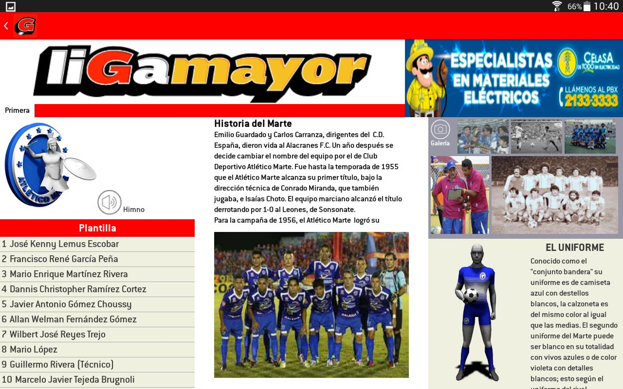 Liga Mayor- screenshot