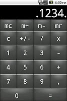 Screenshot of Private calculator
