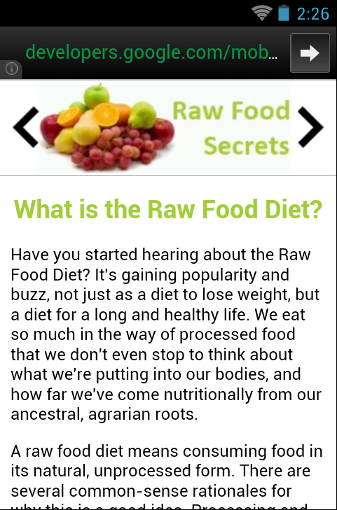 Raw Food Secrets - screenshot