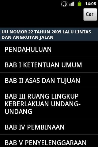 Undang - Undang Lalu lintas - screenshot