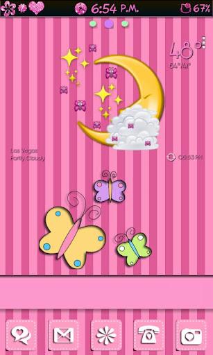 Rosy Pink Go Launcher EX Theme