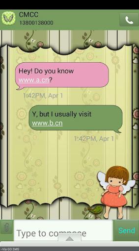 【免費個人化App】FlowerAngel/GO SMS THEME-APP點子