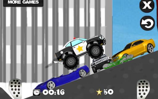 瘋狂扣殺警察 - 希爾賽車 Race game
