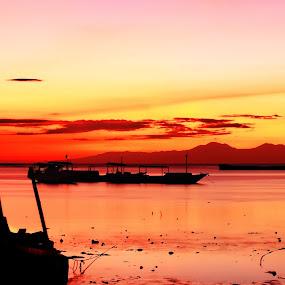 Red Sky of Sunrise in Banyuwangi by Hargo Sulaksono - Landscapes Sunsets & Sunrises