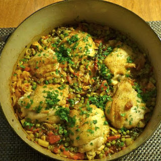 Chicken Sofrito with Orzo