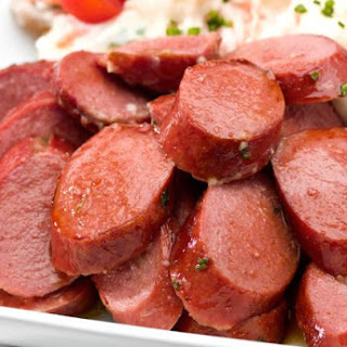 Cocktail Kielbasa with Sweet and Tangy Mustard Sauce