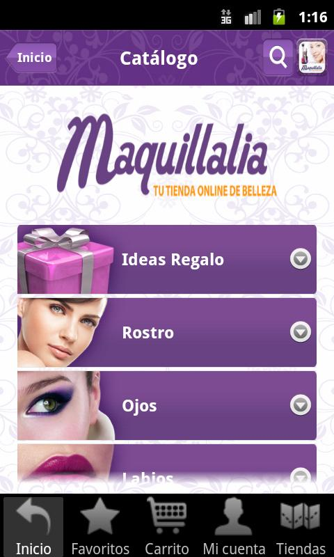 Maquillalia- screenshot