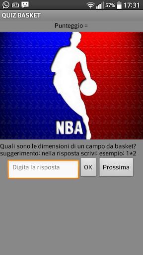 quiz sul basket