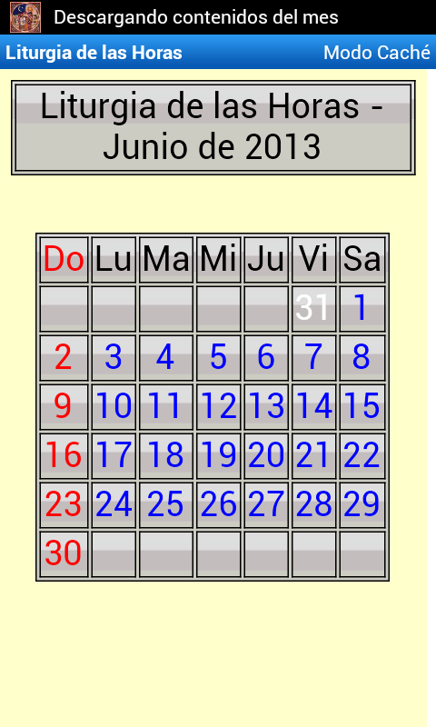 Liturgia de las Horas- screenshot