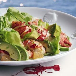 Lobster and Butter Lettuce Salad.