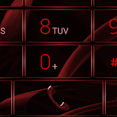 exDialer GlassMetal Red Theme