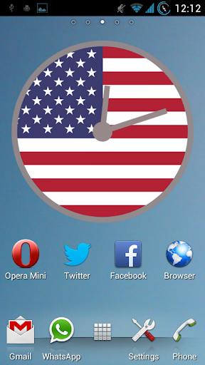 USA Clock Widget FREE