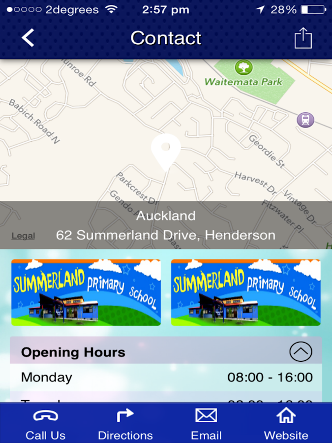 Summerland Primary School- screenshot