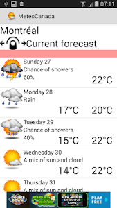 Weather Condition In Canada screenshot 0