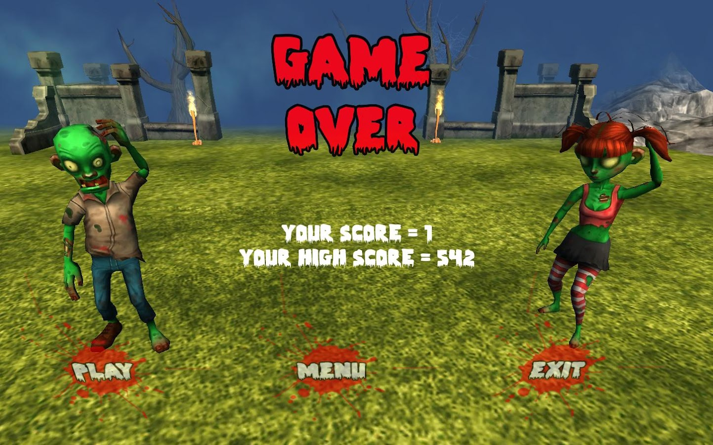 Kill all Happy Zombies- screenshot