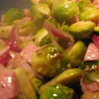Baked Brussels and Ham Recipe
