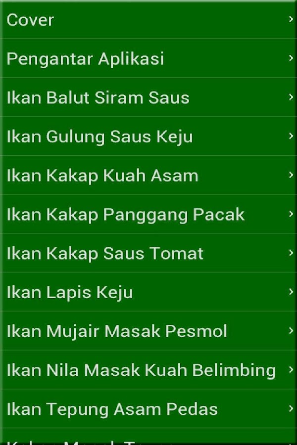 Resep Masakan Ikan - screenshot