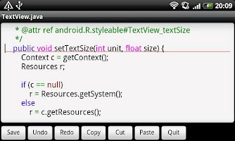 Screenshot of Jota Text Editor