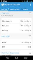 Screenshot of MyFitness Calculator BMI IIFYM