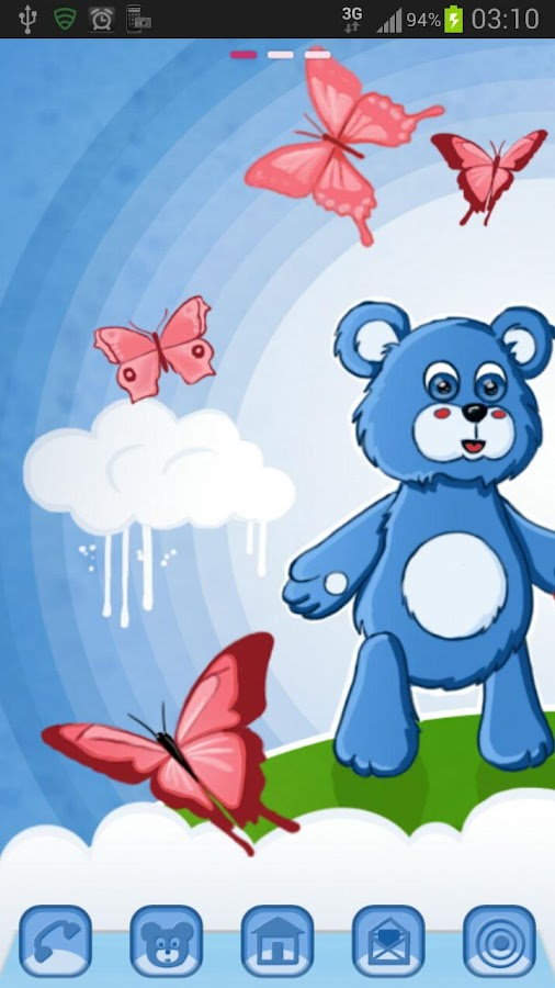 GO Launcher Theme teddy bears - screenshot