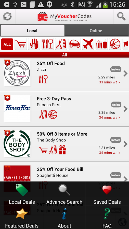 MyVoucherCodes.co.uk Vouchers - screenshot