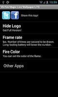 Screenshot of Fire Magic Live Wallpaper LITE