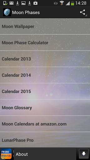 Moon Phase Calendar App