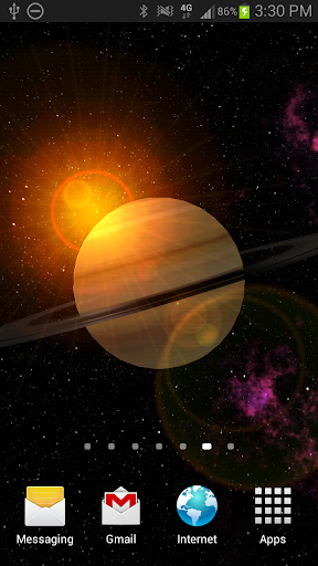 Saturn 3D Free Live Wallpaper