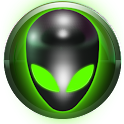 poweramp skin alien green icon